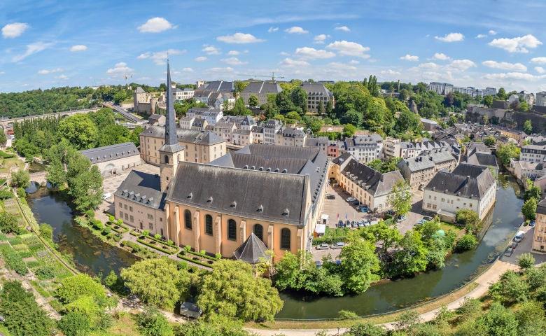 Überblick über Altstadt von Luxemburg