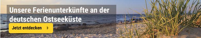 Unterkünfte an der deutschen Ostseeküste