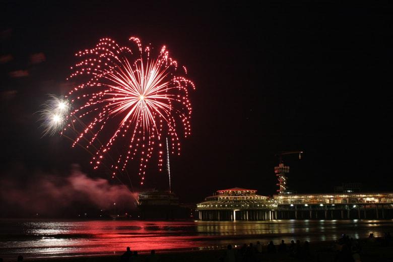 Silvester in Den Haag Feuerwerk