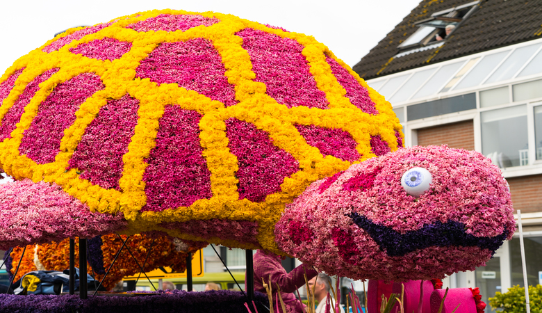 Blumenkorso zur Tulpenblüte in Holland