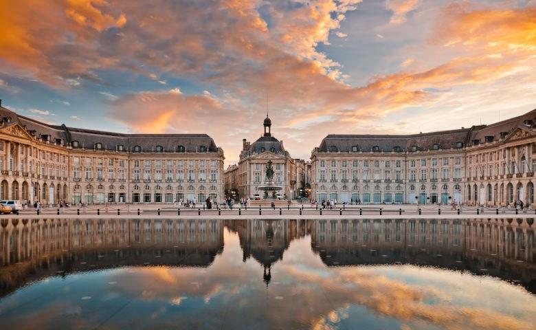 Bordeaux mit dem Place de la Bourse