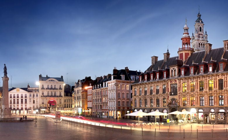 Innenstadt von Lille an der belgischen Grenze