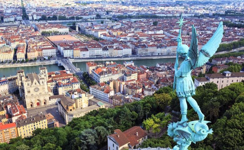 Ausblick auf die Stadt Lyon