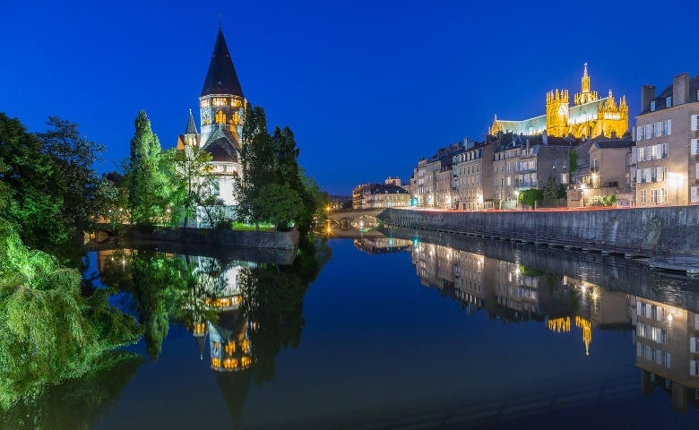 Metz mit einer der größten Kathedralen Europas