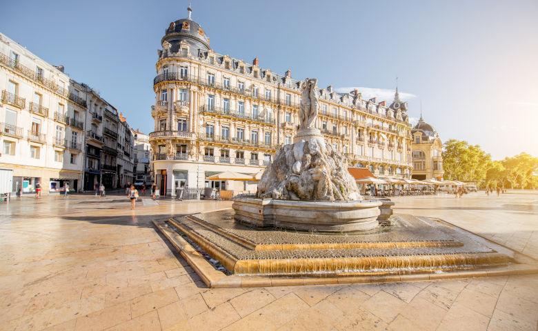 Montpellier und der Place de la Comédie
