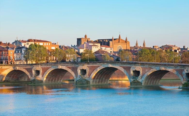 Toulouse mit ihrer Brücke Neuf