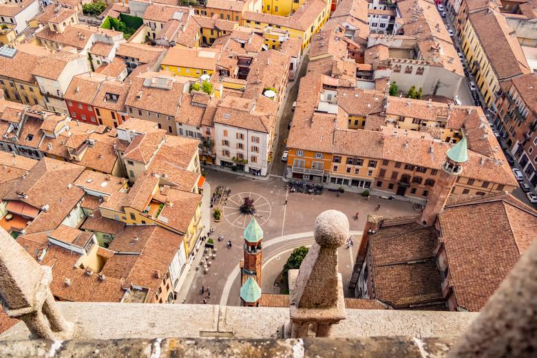 Hauptplatz Cremona von oben