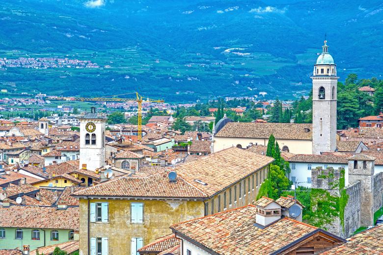 Blick über die Stadt Rovereto