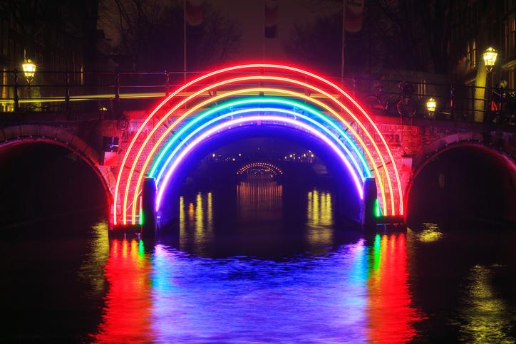 Regenbogen Lichtinstalation